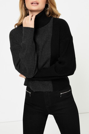 Topshop Knitted Roll Neck Jumper