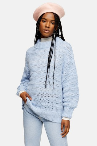 Topshop Stitchy Oversized Jumper