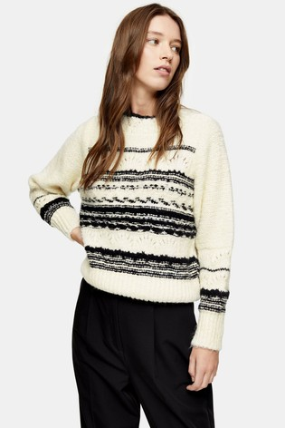 Topshop Knitted Pattern Jumper