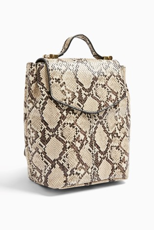 Topshop Snake Print Backpack