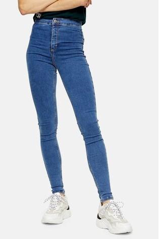 """Topshop Tall Mid Blue Joni Jeans 36"""" Leg"""