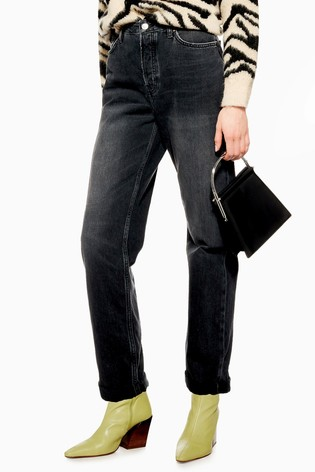 """Topshop Washed Black Hayden Jeans 30"""" Leg"""