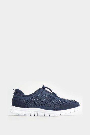 Yours Extra Wide Fit Embellished Trainers
