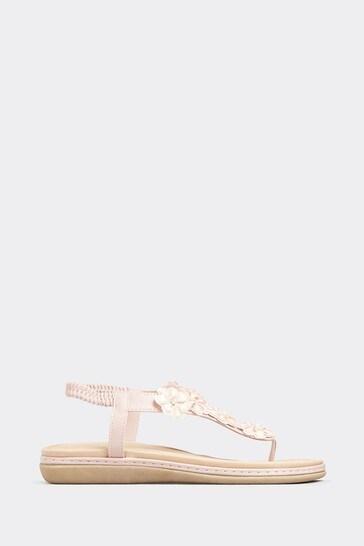 Yours  Pink Opus 7 Petal Flower Toe Post
