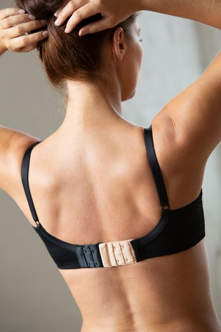 Pour Moi Black 2 Hook Bra Extender (Pack of 3)