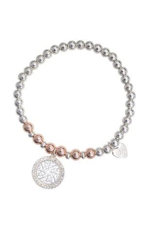 Lipsy Jewellery Two Tone Two Tone Double Heart Bracelet - Gift Boxed