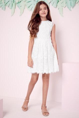 Lipsy Girl White VIP Lace Dress
