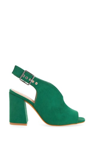 Simply Be Green Extra Wide Fit V Cut Slingback Shoeboot