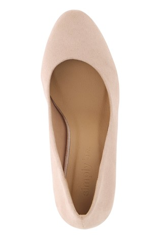 Buy Simply Be Extra Wide Fit Round Heels Classic Court Shoe