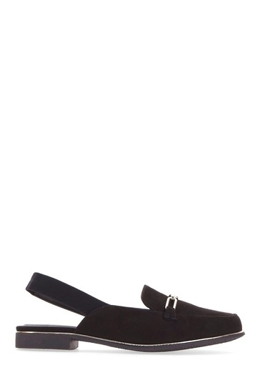 Simply Be Black Extra Wide Fit Mule With Elastic Back Strap