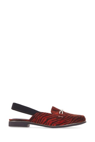 Simply Be Red Wide Fit Mule With Elastic Back Strap