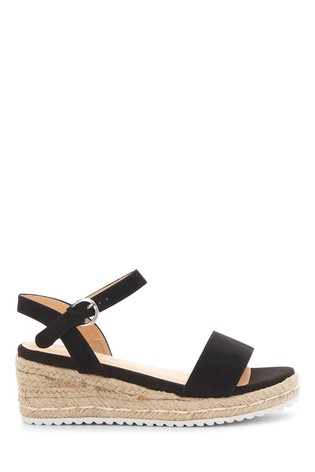 Simply Be Wide Fit Classic Strap Low Wedge Sandals