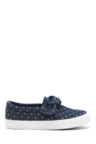 Simply Be Extra Wide Fit Bow Slip On Pumps