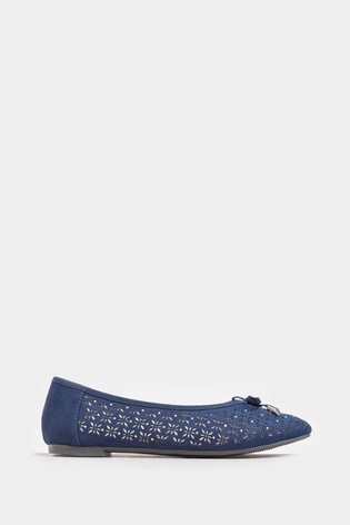 Yours Blue Yours Curve Stud Laser Cut Ballerina