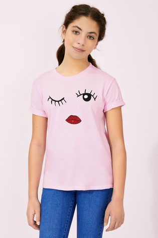 Personalised Lipsy Eyes Wink Girls T-Shirt by Instajunction