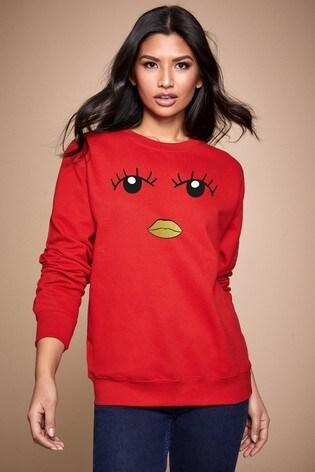 Personalised Lipsy Eyes Open Womens Sweatshirt by Instajunction