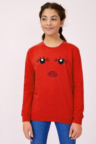 Personalised Lipsy Eyes Open Girls Sweatshirt by Instajunction
