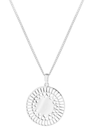 Personalised Sterling Silver 925 Cut Out Disc Pendant by Simply Silver