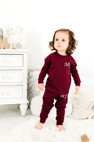 Personalised Wine Two Piece Loungesuit By Forever Sewing