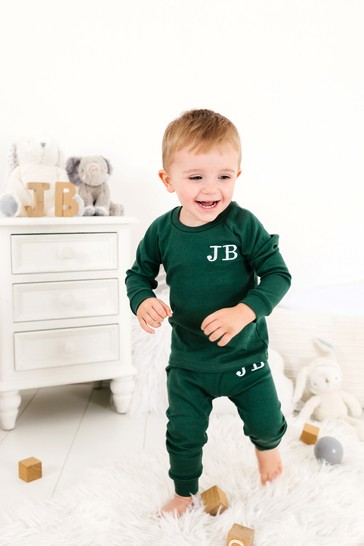 Personalised Green Two Piece Loungesuit By Forever Sewing