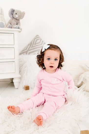 Personalised Pale Pink Two Piece Loungesuit By Forever Sewing