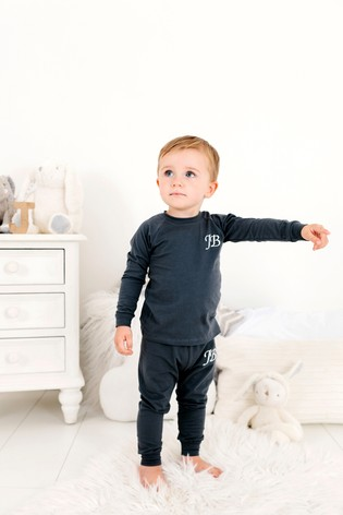 Personalised Charcoal Two Piece Loungesuit By Forever Sewing