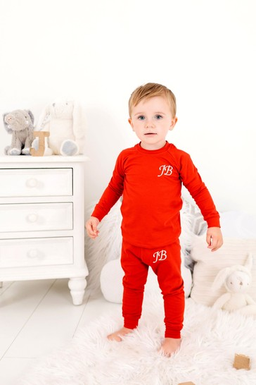 Personalised Red Two Piece Loungesuit By Forever Sewing