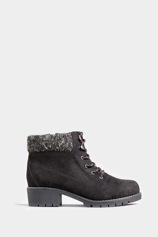 Yours Extra Wide Fit Contrast Lace Hiker