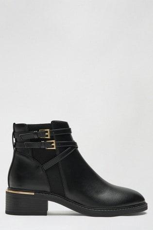 Dorothy Perkins Black Multistrap Clip Chelsea Boot