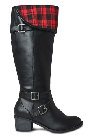 Joe Browns Black Check Me Out 2 In 1 Boots