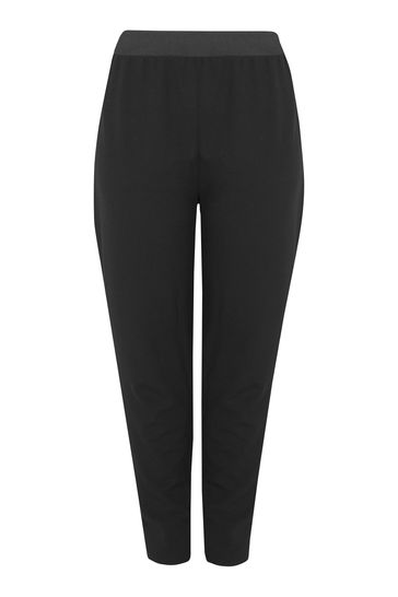 """Yours Black Curve  26"""" Tapered Trousers"""