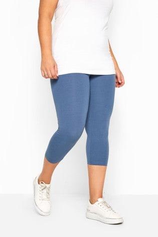 Yours Blue Curve Crop Legging