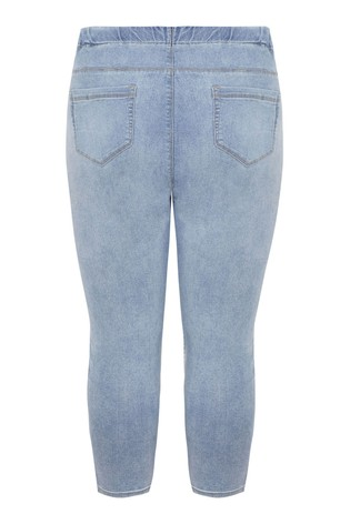 Yours Curve Bleach Crop Jegging