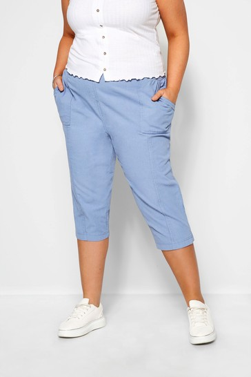 Dorothy Perkins Blue Curve Cool Cotton Crop Trousers