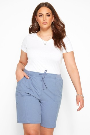 Yours Blue Curve Cool Cotton Shorts