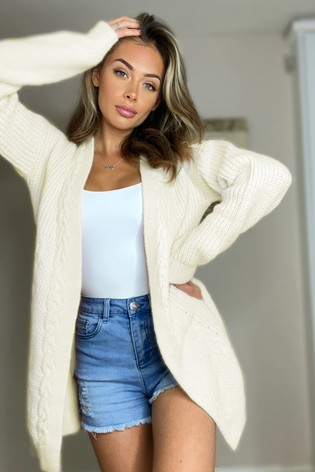 Lipsy Ivory Cable Cardigan