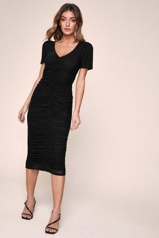 Lipsy Ruched Bodycon Dress