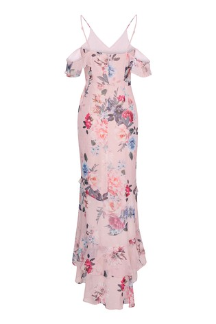 Abbey Clancy x Lipsy Cami Ruffle Maxi Dress
