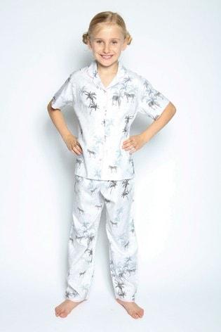 Cyberjammies Black Zebra Print Printed Pyjama Set