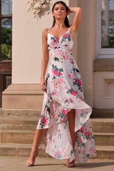 Abbey Clancy x Lipsy Printed Buckle Maxi Dress