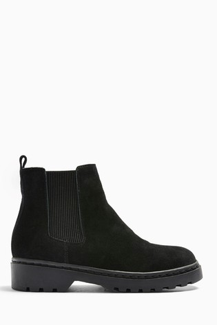 Topshop Bramble Leather Chelsea Boots