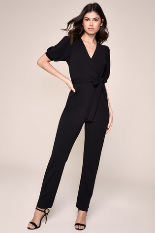 Lipsy Puff Sleeve Tapered Leg Jumpsuit