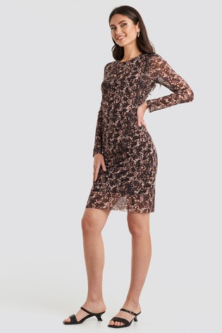 NA-KD Gathered Waist Mesh Dress