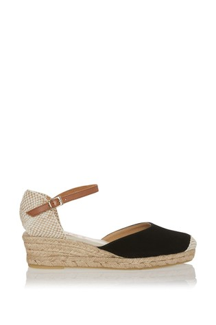 Office Ankle Strap Closed In Espadrille Sandals