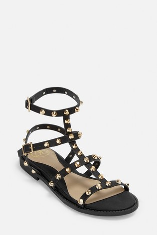 Missguided Dome Stud Gladiator Sandals