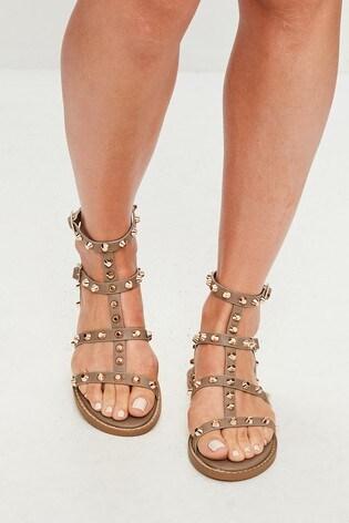 Missguided Stud Gladiator Sandal