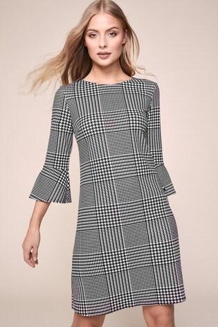 Lipsy Grey Printed Shift Dress