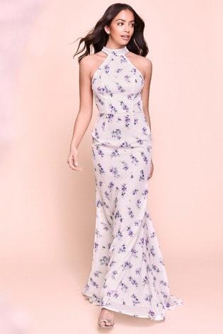 Jarlo Floral Halterneck Maxi Dress
