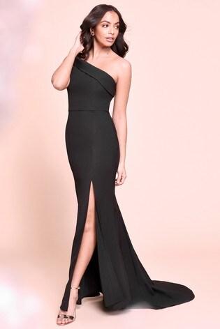 Jarlo Petite One Shoulder Maxi Dress