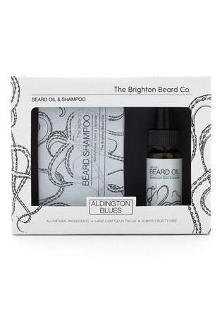 The Brighton Beard Co. Aldington Blues Cleansing Beard Oil & Shampoo Gift